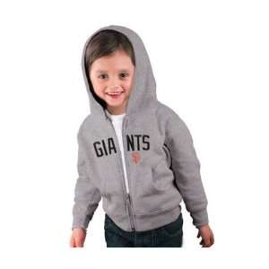 San Francisco Giants Toddler Grey Primary Logo Full Zip