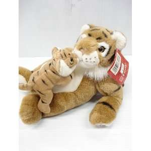 Plush 9 1/2 Wild Animal with baby   Tiger Toys & Games