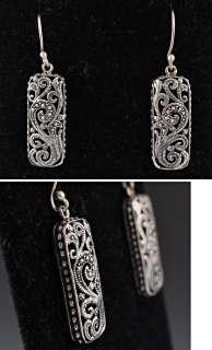 Sterling Silver Garnet Marcasite Pin/Brooch & Earrings