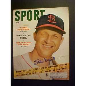 Stan Musial St. Louis Cardinals Autographed July 1954