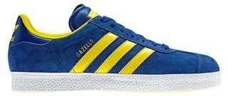 New Adidas Originals Mens GAZELLE 2 Blue Yellow Shoes Retro Running