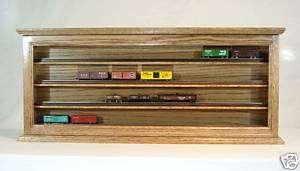Scale Train Display Case Cabinet Solid Oak