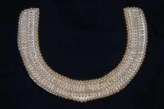 Vintage GLENTEX faux Pearl collar necklace choker Japan