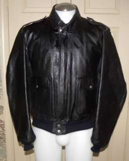 VINTAGE HARLEY DAVIDSON HEIN GERICKE BLACK LEATHER MOTORCYCLE FLIGHT
