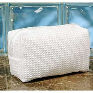 Cotton Waffle Cosmetic Bag Beauty