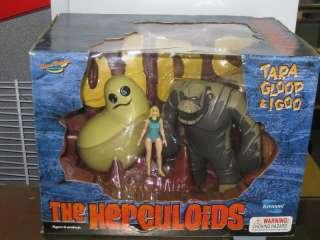 THE HERCULOIDS TARA GLOOP & IGOO FIGURE BOX SET TOYNAMI