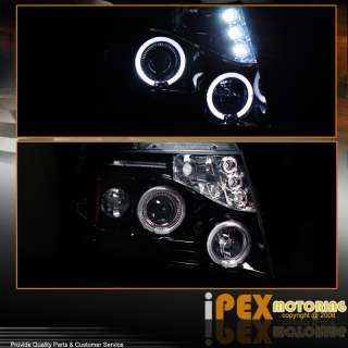 07 11 Chevy Suburban Tahoe Avalanche Glossy Smoked Halo LED Projector