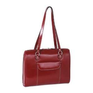 McKlein Ltd. Ed. Glenview Leather 15.4 Laptop Tote   Red
