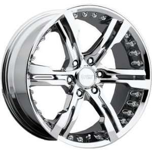 Cruiser Alloy Switchblade 6 22x9.5 Chrome Wheel / Rim 6x135 with a