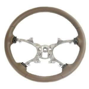 2008 12 GENUINE GM TRUCK SUV STEERING WHEEL CASHMERE LEATHER BASE ONLY