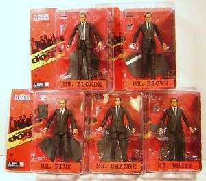 NECA 7 RESERVOIR DOGS ACTION FIGURES SET OF 5 NEW