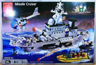 NAVY MISSILE CRUISER (843PCS) BUILDING BLOCKS SET (WITHOUT ORIGINAL