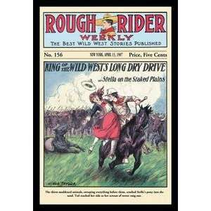 Paper poster printed on 20 x 30 stock. Rough Rider Weekly