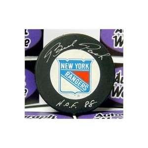 Brad Park autographed New York Rangers Hockey Puck