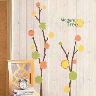 MODERN CIRCLE TREE Wall Decor Mural Art Stickers SW 037