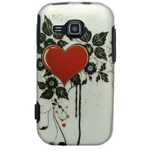Hard Snap on Plastic RUBBERIZED With RED SACRED HEART