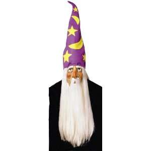 Wizard Mask w/Hair And Hat