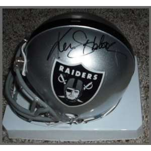 Ken Stabler Signed Mini Helmet   Autographed NFL Mini