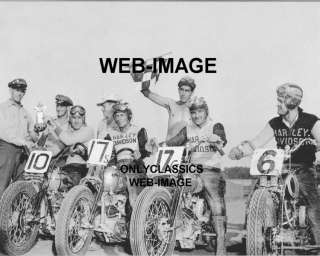 1940s HARLEY DAVIDSON  MOTORCYCLE RACING  TROPHY PHOTO