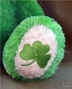 Lucky O Teddy Build a Bear Shamrock Green 11 Sitting