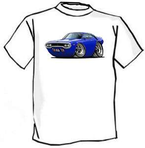 1971 72 Roadrunner GTX Muscle Car Cartoon Tshirt FREE