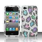 Leopard Iced Snap On Hard Case Cover Apple iPhone 4