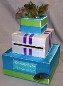 This handcrafted card box/money holder is the perfect touch for