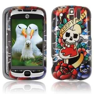 KOI FISH & SKULL / KEEP FAITH Hard Plastic Tattoo Design Case for HTC