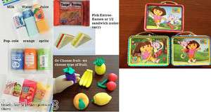 DORA LUNCHBOX w Snack Drink food American Girl Doll Picnic Accessories