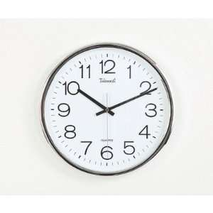 Maples Clock SH 336 12.5 Chrome Finish Framed Wall Clock