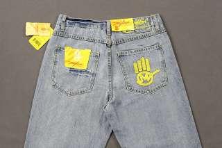 Jeans Denim MISKEEN Baggy Loose Hip Hop Graffiti Streetwear Size 32 42