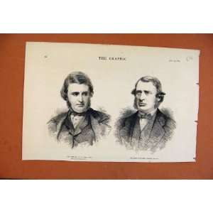 C1879 Portrait Late Mr Ward And Sir James Stephen Print