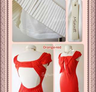NEW Minuet Orange red OR Ivory Sexy Open Back Bow Accent Summer Beach