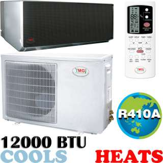 12000 BTU Ductless Mini Split Air Conditioner, Heat Pump   MIRROR