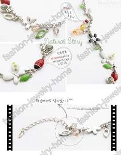 Fashion Glass Crystal Rhinestone Ladybug Butterfly Flower Charm