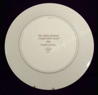 Lenox 4th Annual Holiday Christmas Plate 1994 Santa