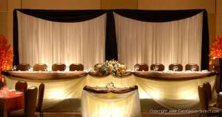 15ft Tall Sheer Curtain for Draping Wedding Backdrop, Party Drape