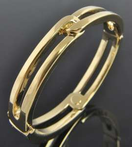 Estate Vintage Yellow 14K Gold Knot Bangle Bracelet