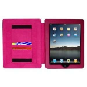 Hot Pink Form Fit Leather Folio Case / Cover for Apple