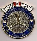 Mercedes Benz Club of Canada Grille Badge NEW 24kt Gold Plated Limited