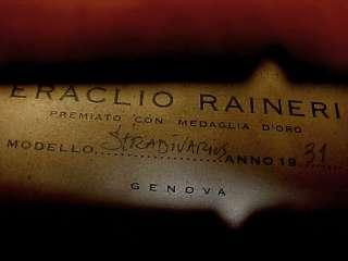 OLD ANTIQUE VINTAGE GREAT SOUNDING ERACLIO RAINERI ITALIAN labeled