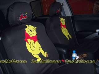 Winnie the Pooh Friends Forever Car Seat Covers Black