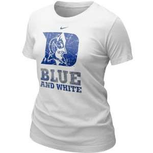 Nike Duke Blue Devils Ladies White True Colors Fan T shirt