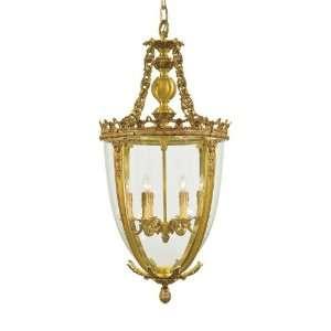 Metropolitan N950468 Pendant French Gold Clear Glass