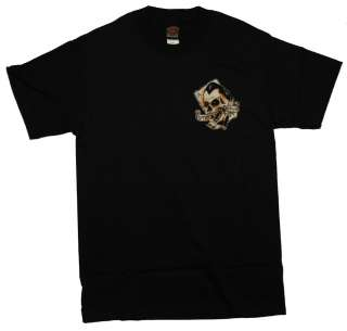 Lucky 13 Skull Aces High Casino T Shirt Tee