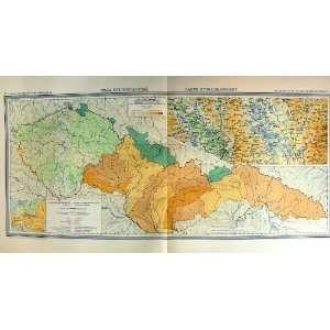 1935 Map Czechoslovakia Mapa Hydrograficka Carte