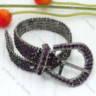 1PC Crystal Rhinestone Belt Buckle Imitation Crystal Bangle Bracelet