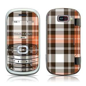 Copper Plaid Design Protective Skin Decal Sticker for LG