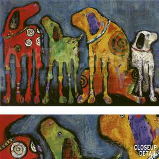 36x24 BEST FRIENDS by JENNY FOSTER URBAN DOGS CANVAS