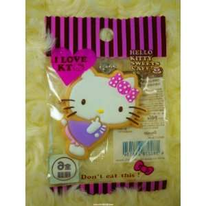Hello Kitty Keychain in Violet Skirt   Made in Japan Toys & Games